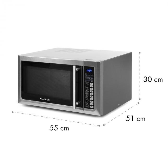Brilliance Pro mikroaaltouuni 43 litraa grilli kiertoilma kosketuspaneeli teräs