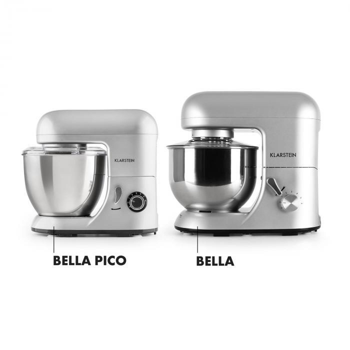 Bella Pico Mini Impastatrice Planetaria 800 W 6 Livelli 4 Litri Argento