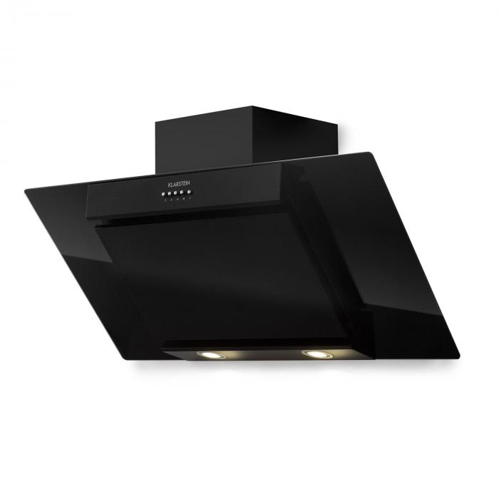 Zola 90 Extractor Hood 90 cm 640 m³/h LED Glass Stainless Steel black