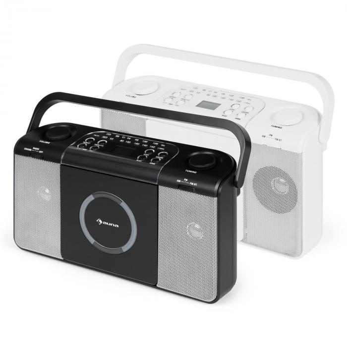 Boomtown USB CD Player FM Radio MP3 Portable Radio Boombox Black