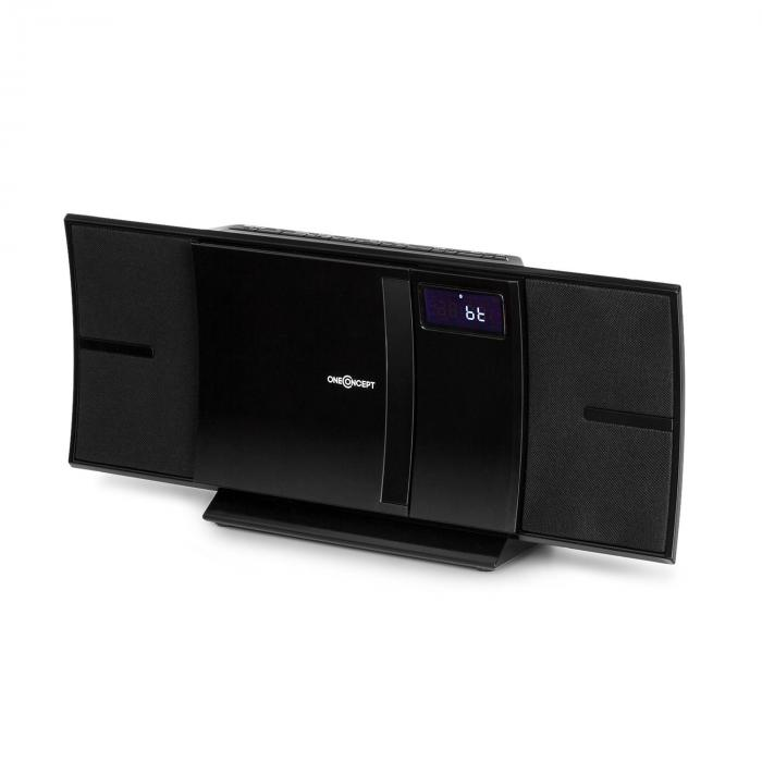 V-16-BT Equipo estéreo Bluetooth CD USB MP3 montaje en pared negro