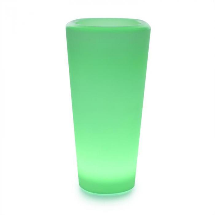Starflower LED-kukkaruukku UV-kestävä polyeteeni kaukosäädin pyöreä