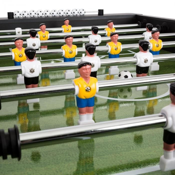 Maracanã  Fußball table Tournament Dimensions  Natural Wicker Balls Cupholder Black