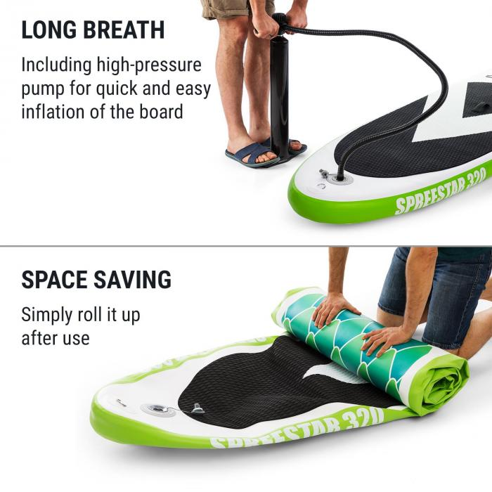 Spreestar 320 Inflatable Paddle Board SUP Board Set 320x12x81 Green
