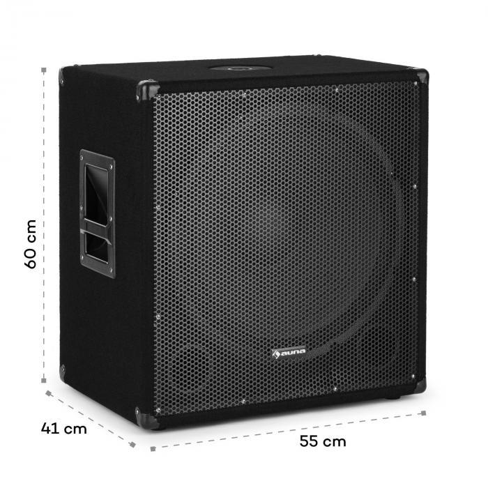 """Cube 1812 2.1 Aktiv PA Set, 1600 Watt, 18"""" Subwoofer, 2 x 12"""" Lautsprecher"""