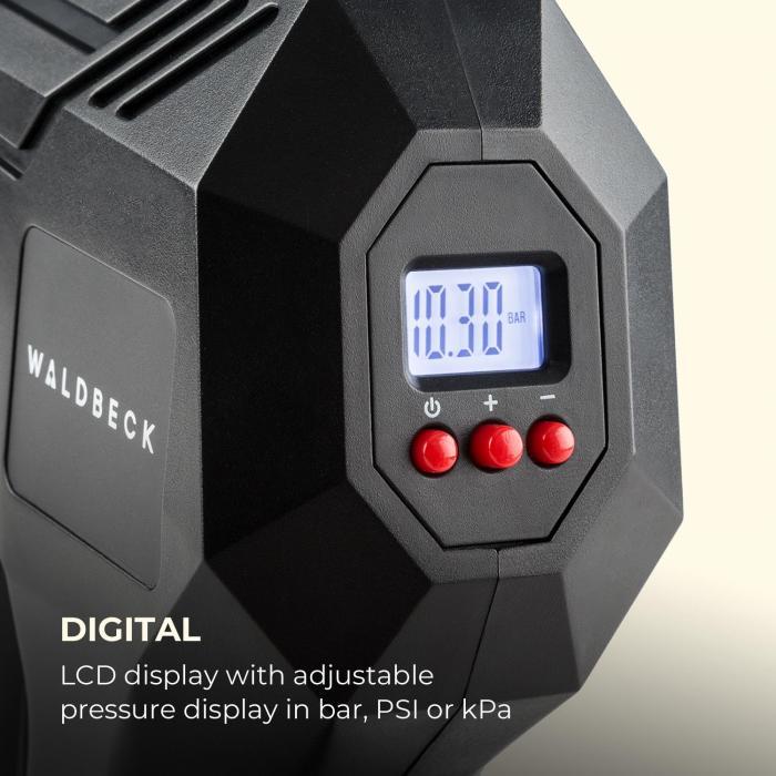 AirBuddy Akku-Luftpumpe 120 W LED-Licht 1500 mAh Akku schwarz / rot