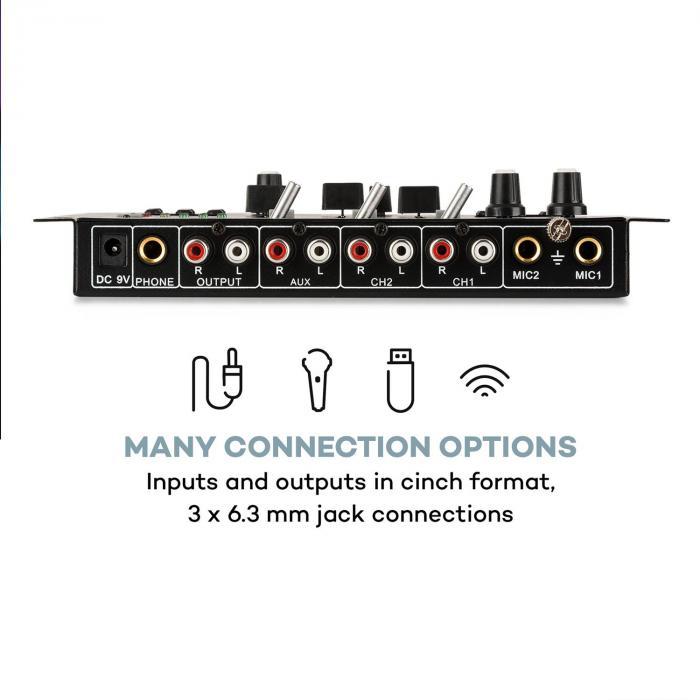 SPL400 PA-Verstärker Set mit Resident DJ 22 BT 2CH Mischpult