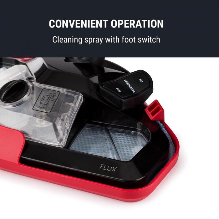 Flux Stoomreiniger 1600W Hand- en vloerapparaat 600 ml rood