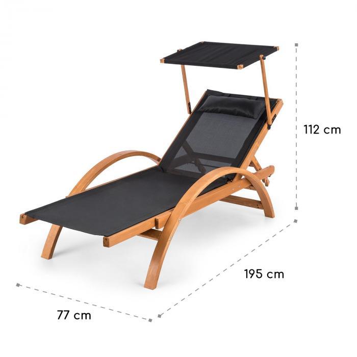 Panamera Set de 2 chaises longues de jardin ComfortMesh - noir