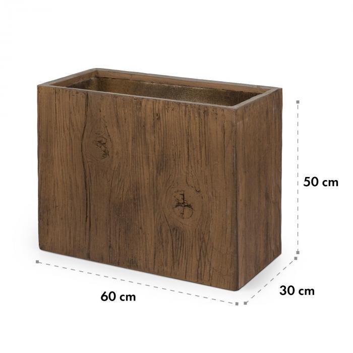 Timerflor Vaso 60 x 50 x 30 cm Vetroresina Esterno/Interno Marrone