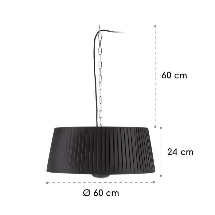 Venice Heat Riscaldatore da Terrazza 800/1000/1800W Telecomando nero