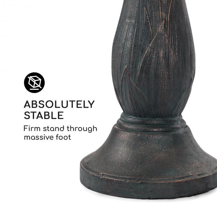 Rose Bell Fontana da Giaridino in Poliresina 6 W Design Romantico Effetto Pietra