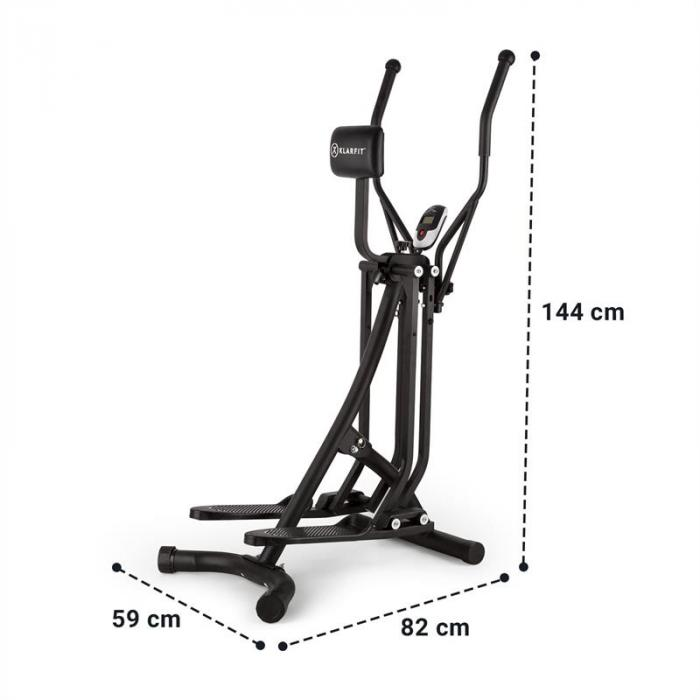 Bogera X Crosstrainer Air Walker LCD-Display Computer da Allenamento nero
