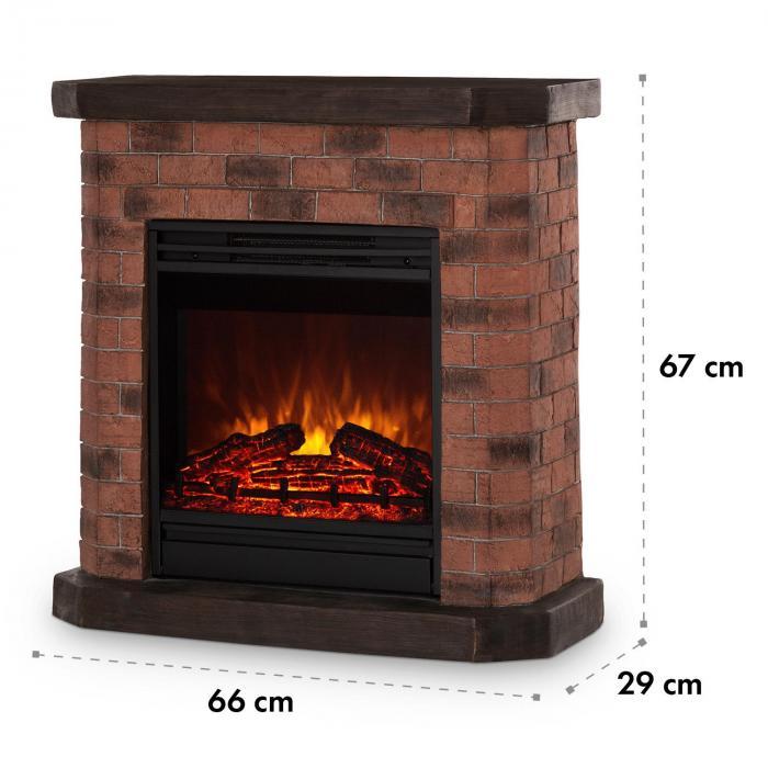 Villach Elektrischer Kamin 1800W Steindekor Polystone Fernbedienung