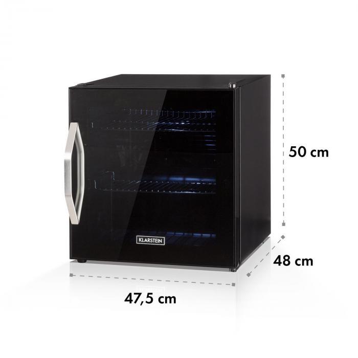 Beersafe L Onyx juomajääkaappi A+ LED metalliritilä lasiovi musta