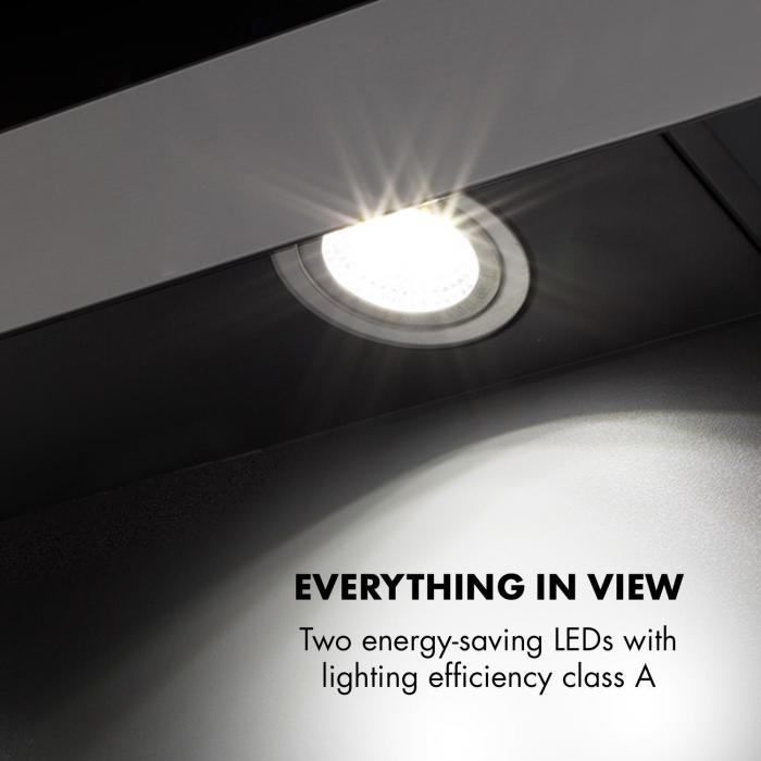 Aurora Eco 90 Dunstabzugshaube 550 m³/h LED-Display schwarz