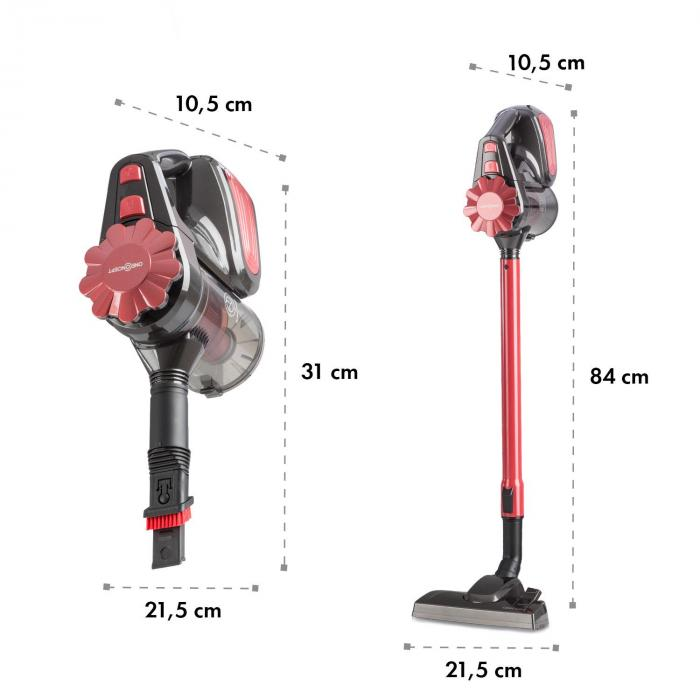 CleanTurbo Cyclonic Handheld Vacuum Cleaner, 600 W, MultiCyclonic System, Red