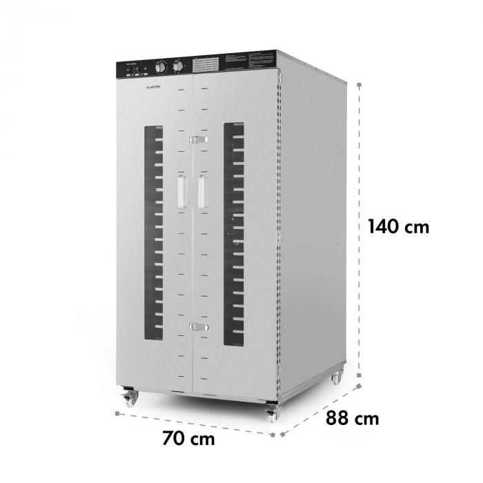Master Jerky 24 Dörrautomat 4500W 40-90 °C 15h-Timer Edelstahl silber