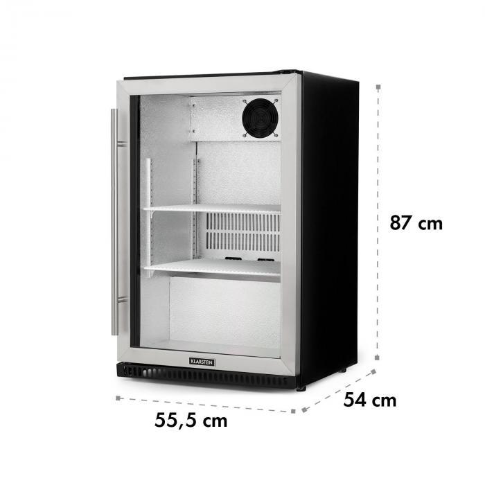 Beersafe Pro -jääkaappi 133 l lasiovi 2 hyllyä musta