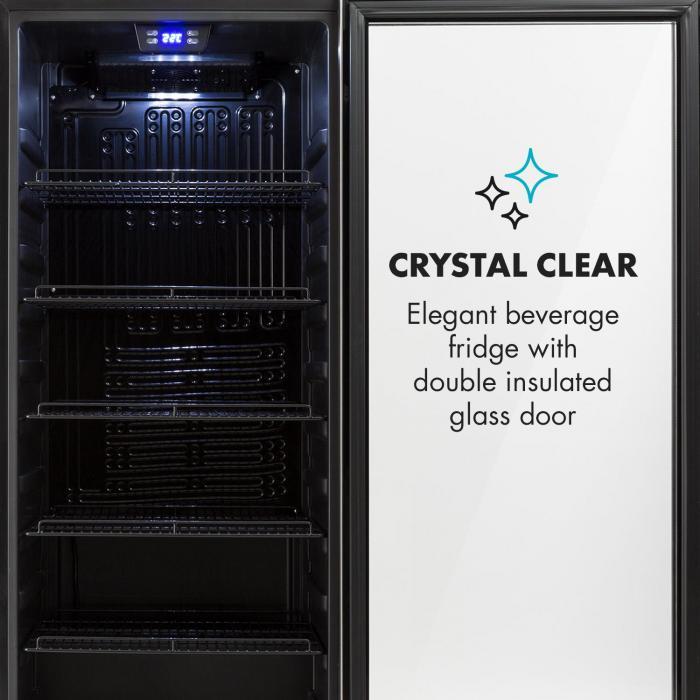 Beersafe 7XL -juomajääkaappi 242 l A+ lasi ruostumaton teräs