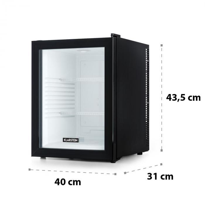 Brooklyn 42 -jääkaappi energialuokka A lasiovi valkoinen sisätila musta