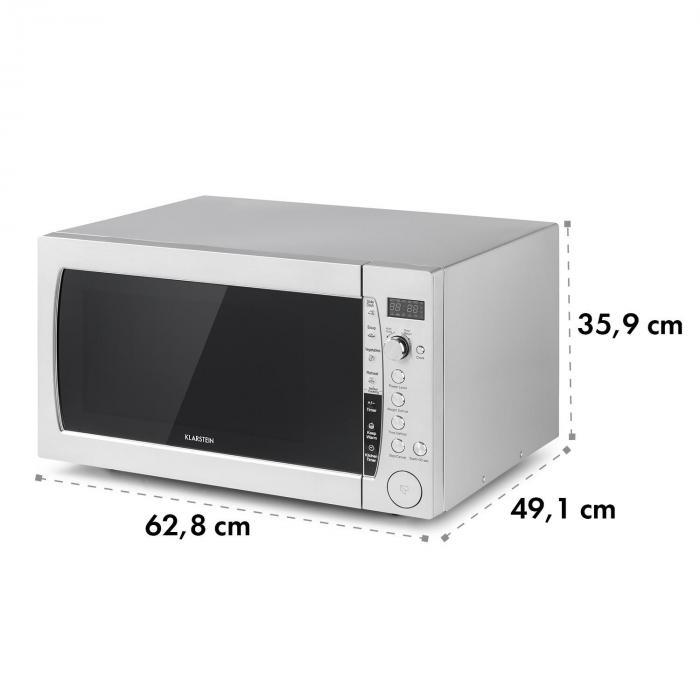 MaxiWave forno a microonde 60 litri 1200 Watt 10 livelli acciaio inox